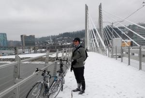 Snow Day on Tilikum Crossing